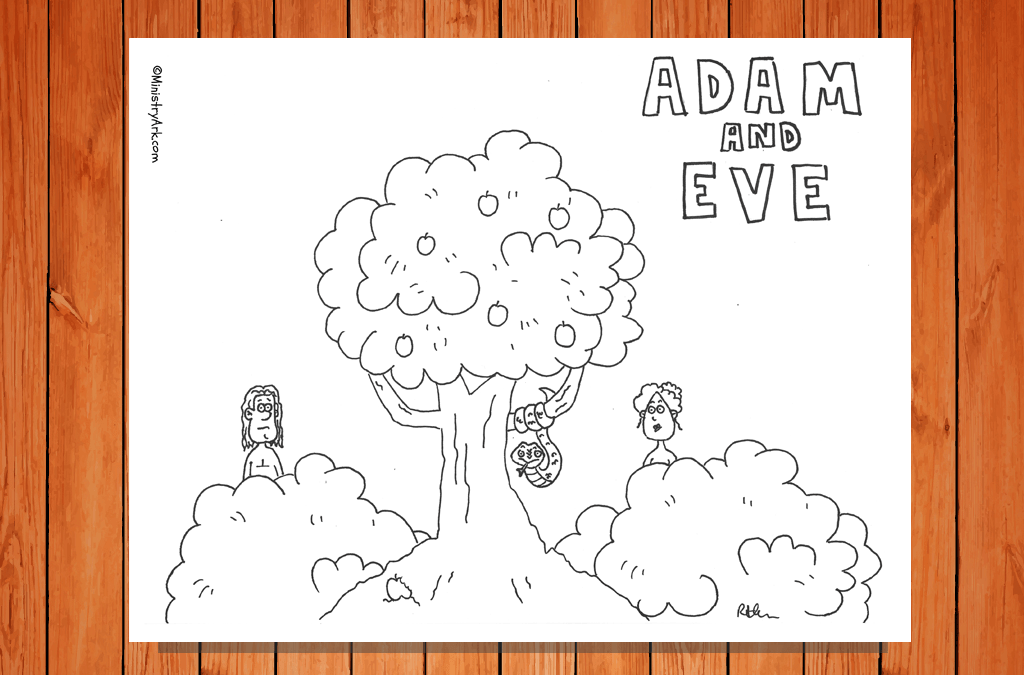 'Adam and Eve' Printable