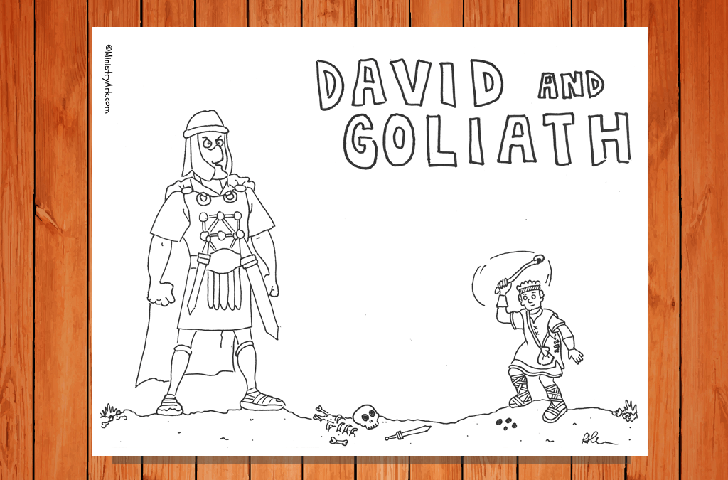 photograph relating to David and Goliath Printable Story named David and Goliath Printable MinistryArk