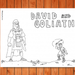 'David and Goliath' Printable