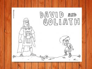 Click here for the 'David and Goliath' Printable