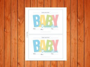 Click here for the Free 'Baby Dedication Invites' Printable