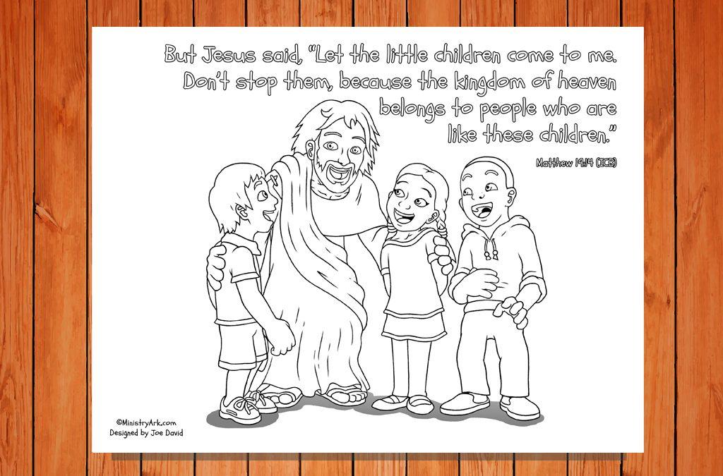 'Let the Children Come' Printable (Matthew 19:14)