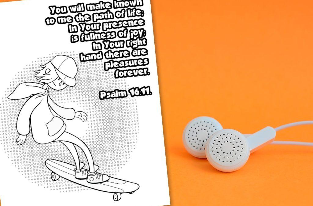 'Path of Life' Printable (Psalm 16:11)