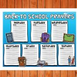 'Back to School Prayers' Color Printable