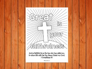 Click here for the 'Great is Your Faithfulness' Printable