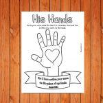 'His Hands' Printable (Isaiah 49:16a)