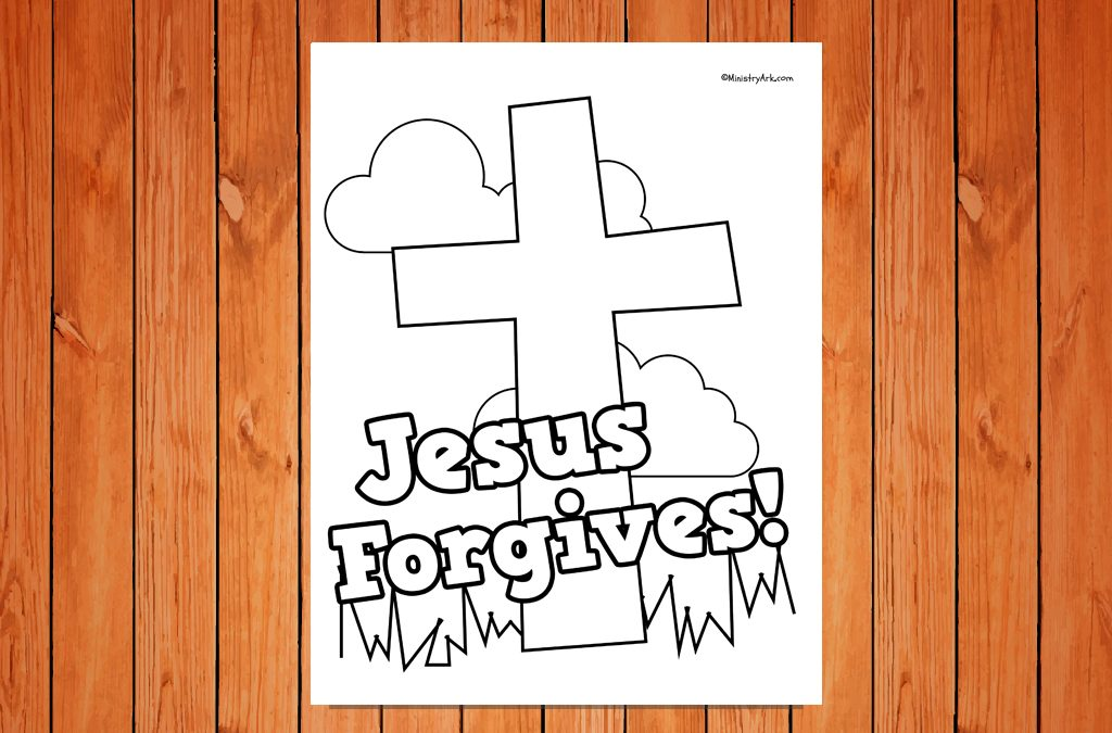 'Jesus Forgives' Printable • MinistryArk