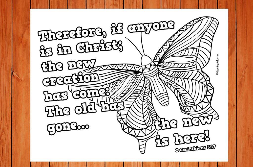 'New Creation' Printable (2 Corinthians 5:17)