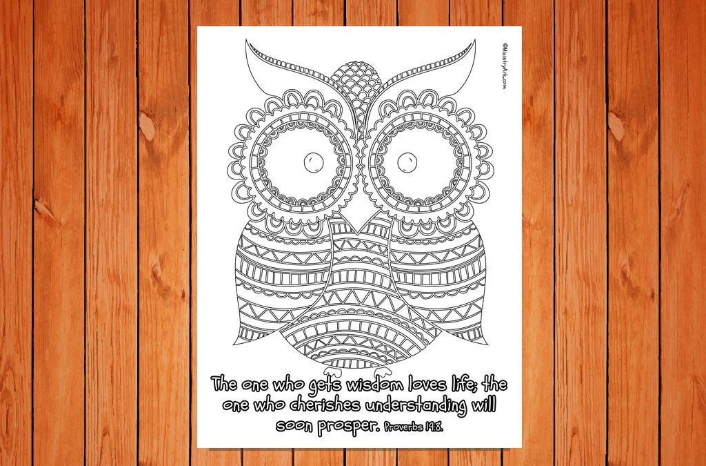 'Wisdom' Printable (Proverbs 19:8)