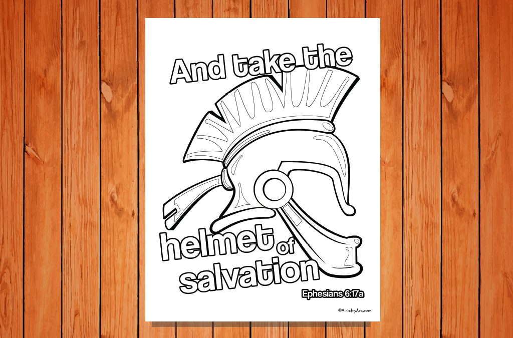 image about Abc of Salvation Printable identify Helmet of Salvation Printable (Ephesians 6:17a) MinistryArk