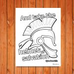 'Helmet of Salvation' Printable (Ephesians 6:17a)