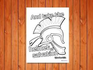 Click here for the 'Helmet of Salvation' printable