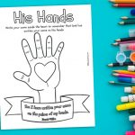 'His Hands' Printable (Isaiah 49:16a)