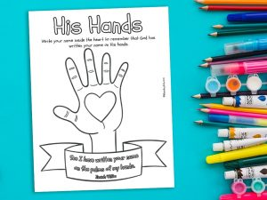 'His Hands' Printable
