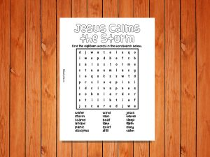 Click here for the 'Jesus Calms the Storm' Printable Wordsearch