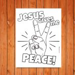 'Jesus Gives Me Peace!' Printable