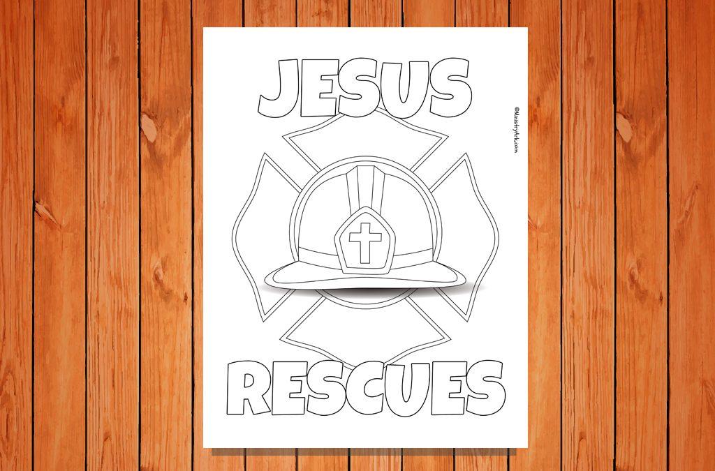 'Jesus Rescues' Printable
