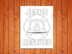 Click here for the 'Jesus Rescues' printable