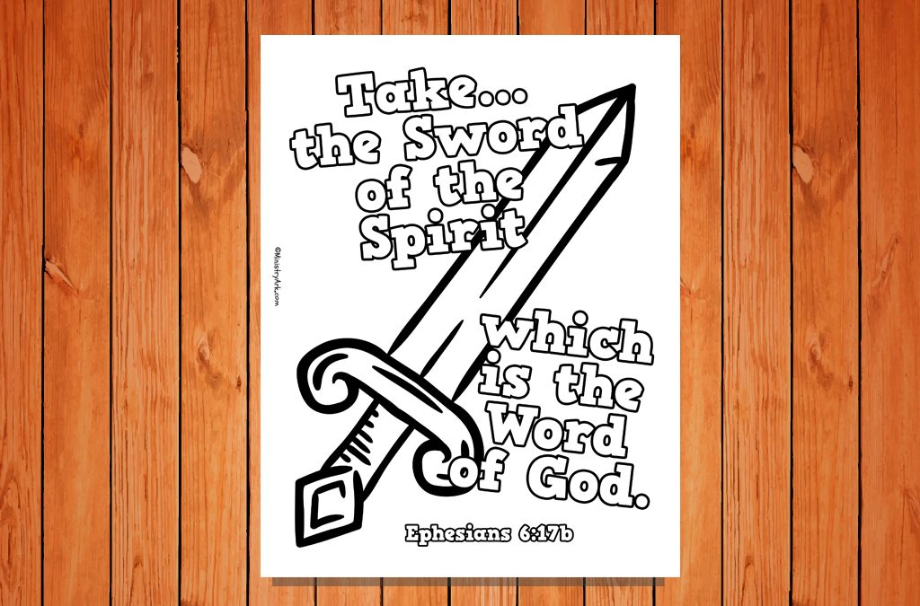 'Sword of the Spirit' Printable