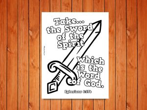 Click here for the 'Sword of the Spirit' printable