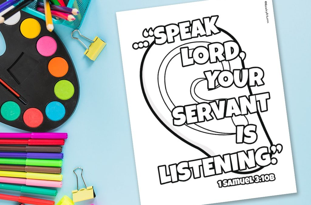 'Speak, Lord' Printable (1 Samuel 3:10b)