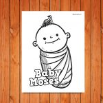 'Baby Moses' Printable