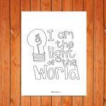 'Light of the World' Printable (John 8:12)