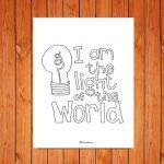 'Light of the World' Printable (John 8:12)