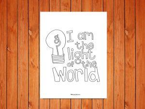 'Light of the World' printable