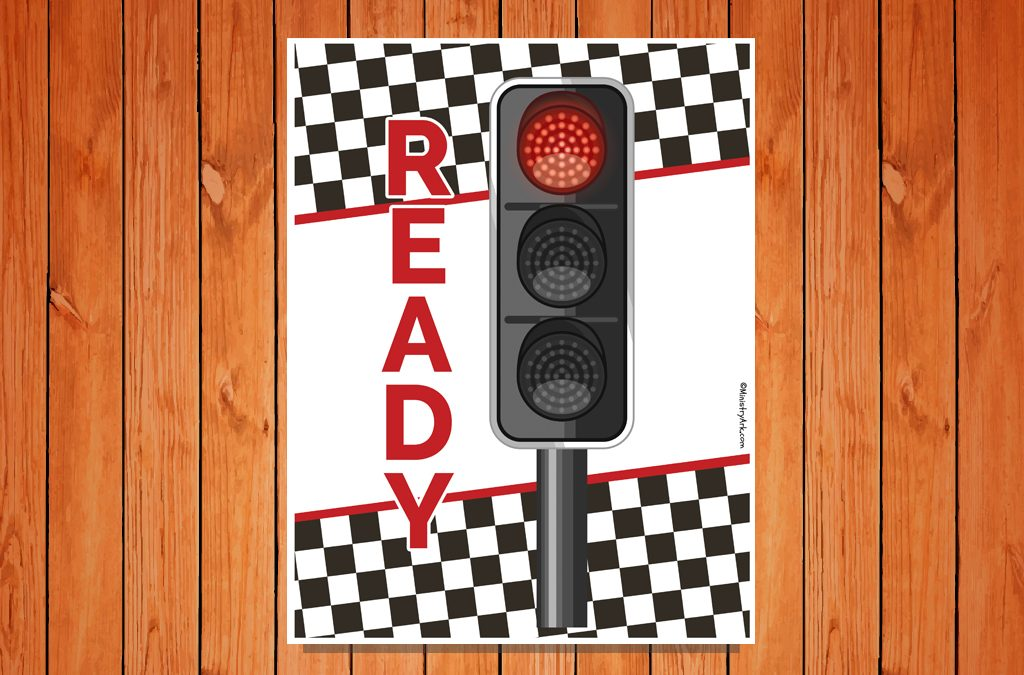 'Ready' Traffic Light Printable