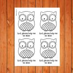 'Owl Prayers' Printable