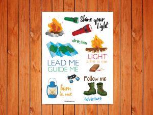 Bible Journaling - Camping Printable
