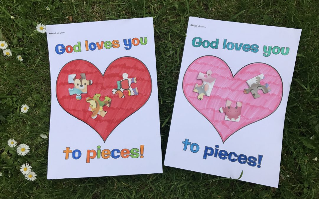 'God Loves You to Pieces' Jigsaw Piece Craft
