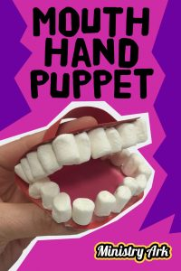 Mouth Hand Puppet Craft based on James 1 Bible passage