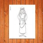 'Ruth' Bible Character Printable (Color and B&W)
