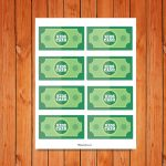 'Kids Cash' Printables