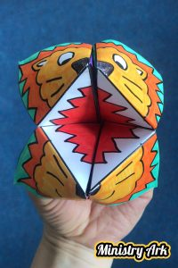 Lion Origami Bible Craft