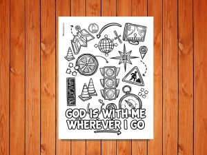 'God is with me wherever I Go' Printable