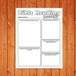 'Bible Reading Journal' Printable for kids