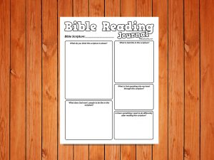 Bible Reading Journal for kids