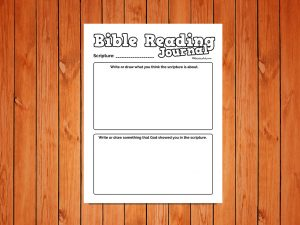 'Bible Reading Journal' for younger kids Printable