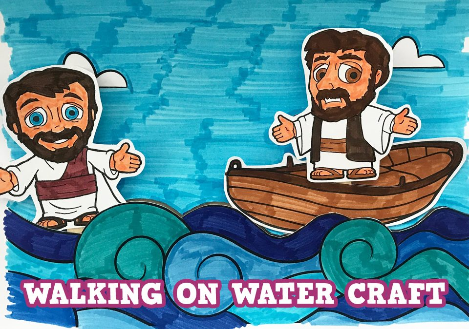 'Peter and Jesus Walk on Water' Craft Picture