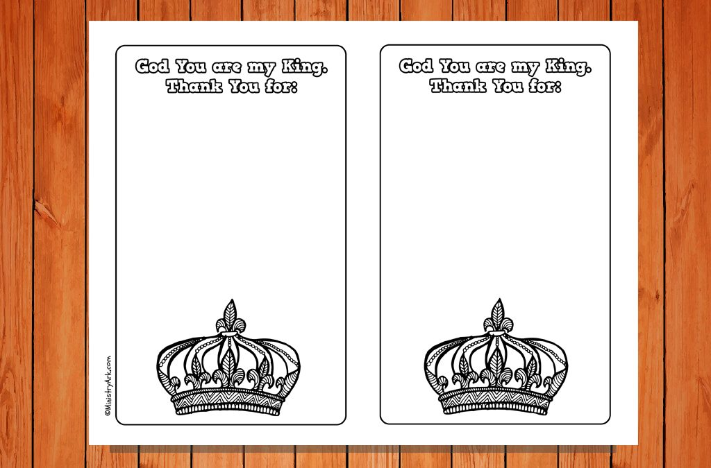 'God is King' Response Cards