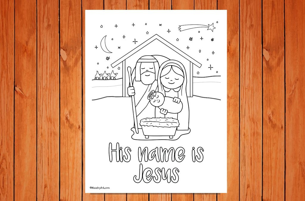 'His name is Jesus' Christmas Printable
