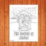 'His name is Jesus' Christmas Printable