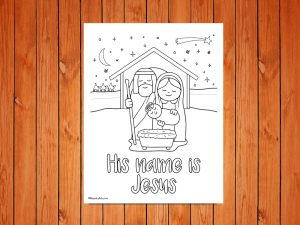 Click here for the 'His name is Jesus' Christmas Printable