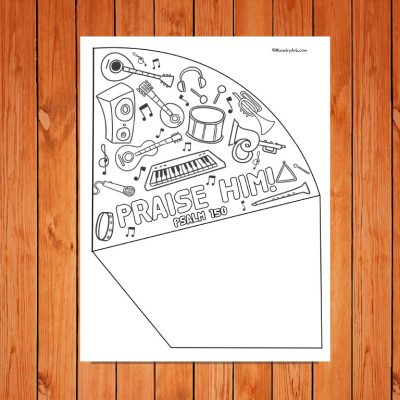 'Praise Him' Printable Trumpet Craft