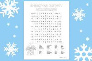 'Christmas Nativity Wordsearch' Printable