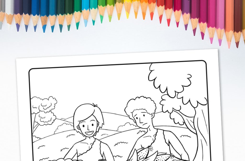 'Cain and Abel's Offering' Printable Coloring Sheet