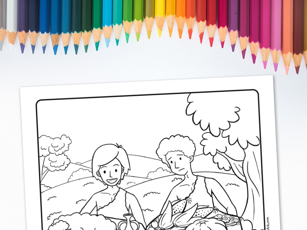 - Cain And Abel's Offering' Printable Coloring Sheet • MinistryArk